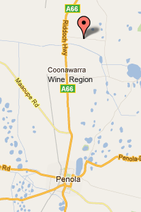 Click the image for an interactive map to get to Camawald Cottage in Coonawarra